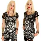 BANNED PENTAGRAM  LONG TOP / MINI DRESS  PUNK GOTHIC ALTERNATIVE OUIJA OCCULT