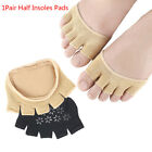 1 Pair Toe Separator Pads Care Half Insoles Five Finger Toe Socks Support Pads