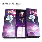 Gold Foil Rose Artificial Forever Flowers W / Love Base Stand -Best Gift 24.5cm
