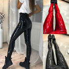 Ladies Polyurethane Leather Slim Trousers Leggings Leisure Long Pants Mini Comfy