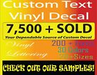 Custom Vinyl Lettering Personalized For Decal, Sticker, Window, Wall, And Names