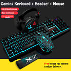 Backlight USB Wired Gaming Keyboard and Mouse Set with Headset For PC Laptop