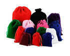 10-50pcs Velvet Drawstring Gift Bags Wedding Jewellery Candy Party Pouch Bags Uk