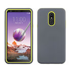 For LG Stylo 5 - Dual Layer ShockProof Armor Silicone Rugged Cover Case