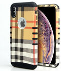 For Apple iPhone - KoolKase Hybrid ShockProof Cover Case - Khaki Plaid