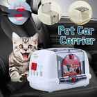 Portable Cat Dog Car Seat Belt Booster Pet Travel Carrier Safety Box Bag Puppy