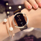 Fashion Girl Women Classic Casual Quartz Watch Leather Strap Wrist Watches YK image