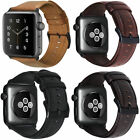 Retro iWatch Band Leather Men Casual Strap For Apple Watch 4 3 2 38/44mm image