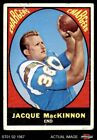 1967 Topps #124 Jacque MacKinnon Chargers FAIR $1.15 USD on eBay