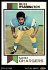 1973 Topps #199 Russ Washington Chargers NM $4.0 USD on eBay