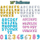 "Foil Letter & Number Balloons 16"" Alphabet A-Z GOLD, SILVER, PINK, BLUE Birthday"
