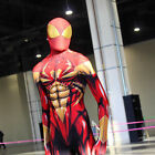 Golden Iron Spiderman Halloween Cosplay Costumes Zentai Suit 3D printing