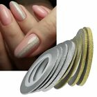 Gold Silver Glitter Striping Tape Line Nail Art Tips Decals Beauty Decoration