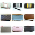 Michael Kors Jet Set Travel Pebbled Leather Continental Wallet in Various Colors image