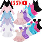 US Girls Ballet Dance Dress Dancer Leotard Skirt Gymnastics Dancewear Costume