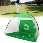 Practice Golf Net Hitting Cage Training Aid Mat Driver Irons +Golf Mat