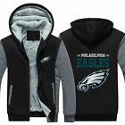 Philadelphia Eagles Fans Hoodie Fleece zip up Coat winter Jacket warm Sweatshirt $18.99 USD on eBay