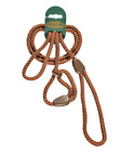 HI-CRAFT 🐶 Dog Slip Lead Oakberry™ BROWN TAN 8mm Nylon Rope 🐩
