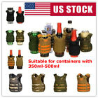 Military Tactical Mini Vest Soda Beer Bottle Cooler Insulator Can Cover NEW
