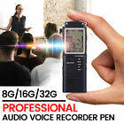 32G Rechargeable Digital Audio Sound Voice Recorder Pen Dictaphone MP3 Player