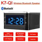 QI Wireless Charging Phone Charger Bluetooth Speaker Dual Alarm Clock FM Radio
