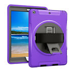 For iPad 9.7 Inch 2017 PC Shockproof Tablet Case Protective Cover with Bracket