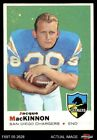 1969 Topps #202 Jacque MacKinnon Chargers EX $1.0 USD on eBay