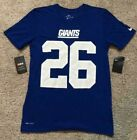 MENS NIKE SAQUON BARKLEY NEW YORK GIANTS 26 DRI-FIT JERSEY SHIRT! S L! T-SHIRT! on eBay