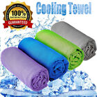Instant Cooling Towel Ice Cold Golf Cycling Jogging Gym Sports Pilates 4 Colors image