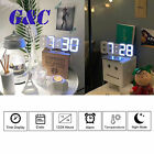 Large 3D Modern Digital LED Wall Clock 24/12 Hour USB Display Timer Alarm Home
