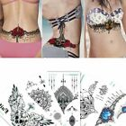 Body Chest Waist Tattoo Temporary Sticker Women Shoulder Arm Sleeve Fake Tattoo $5.99 USD on eBay