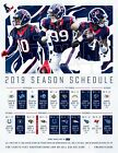 Houston Texans Football Schedule 2019 Poster 2 on eBay