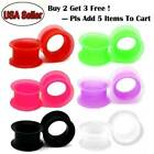 PAIR-LARGE FLARE SOFT Silicone Ear Skins-Ear Gauges-Soft Ear plugs-Ear Tunnels image