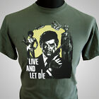 James Bond Live and Let Die Retro Movie T Shirt Classic 007 Cool 70's $29.22 AUD on eBay