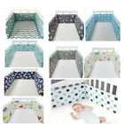 4PCS Baby Safe Crib Bumper Pads Washable Portable Standard Crib Liners Padding