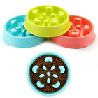 Crescent Shape Anti-Mite Pet Bowl Dog Slow Food Bowl Plastic Non-Slip Dog Bowl T