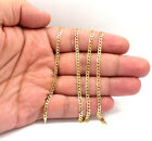 Solid 14k Yellow Gold Cuban Chain Necklace 3.5mm 16' 18' 20'24' 26' 30'