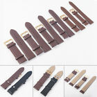 12-24mm Genuine Leather Wrist Watch Strap Vintage Retro Thick Band Men's Belt image