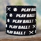 Set of PLAY BALL Wristbands - Lot of Silicone Bracelets for Baseball $9.98 USD on eBay