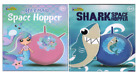 Shark & Mermaid Retro Space Hopper 45cm Inflatable Kids Garden Bouncer Jump Fun