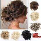 real natural curly messy hair bun one piece scrunchie hair extensions updo cover