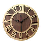 Home Decor Wall Clock Portable Living Room Wooden Craft Accurate Roman Digital