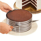 Stainless Steel Layer Cake Slicer Adjustable Mousse Mold Cut Kitchen Tools Kit