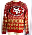 SAN FRANCISCO 49ERS Mens Sweater Small Ugly Christmas Holiday Reindeer Klew New $39.95 USD on eBay