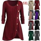 Women Plus Size Jumper Sweater Pullover T-shirt Casual Tunic Tops Asymmetric