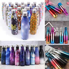 Personalised Water Bottle Stainless Steel Vacuum Insulated Chilly Flask 500ml US