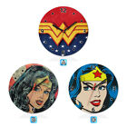 Wonder Woman Super Hero Wood Wall Clock Gift Round Office Home Room Decor