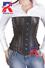 Attractive Fashion Steel Boned Overbust Sexy and Stylish Gothic Leather Corset