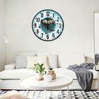 Silent Large 3D Earth Wall Clock Display Indoor Kitchen Hanging Room Decor Charm