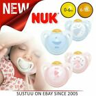 Nuk Latex Baby Dummies Pacifier Soothers Rose/Blue 0-6m & 6-18m